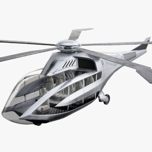bell fc-x helicopter concept 3D model