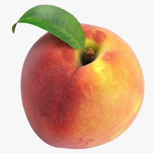 peach leaf 3D