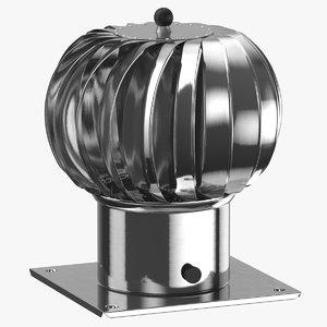 3D model rooftop element vent 01