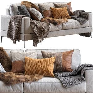 pohjanmaan capri sofa 210 3D model