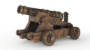 battle cannon 3D model