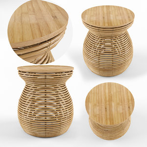 3D model bandeau table natural