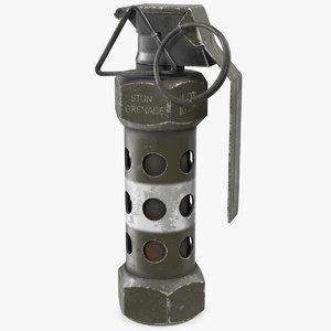 m84 stun grenade old 3D model