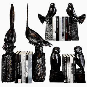 eichholtz bookends birds 3D