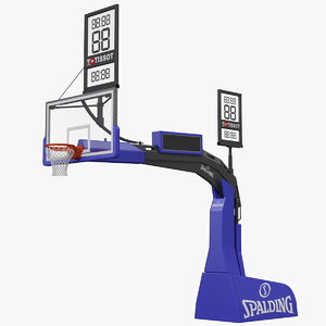 hydraulic portable basketball backstop 3D model