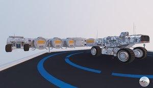 3D space mars colony si-fi model