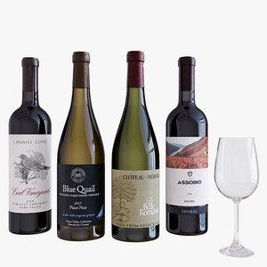 3D model wine wineglass