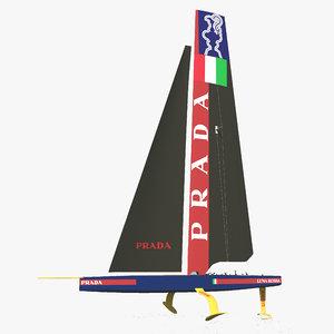 america s catamaran oracle 3D model