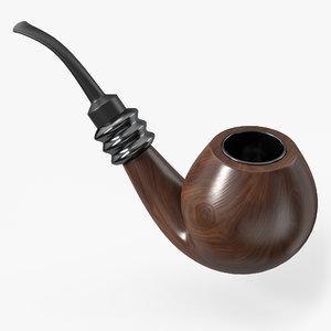 3D smoking pipe model