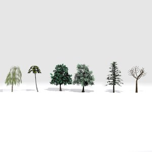 trees realistic polys 3D model