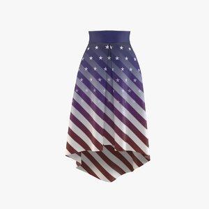 american flag skirt 3D