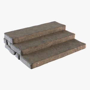 3D model concrete steps