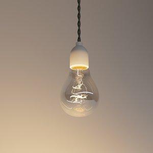 3D model bulb light lightbulb