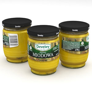 food mustard jar 3D model