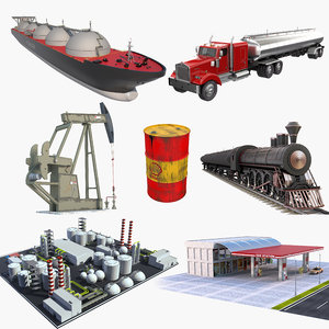 oil recovery refinery 2 3D model