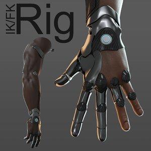 hand anatomy mechanical model