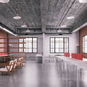 3D industrial office space