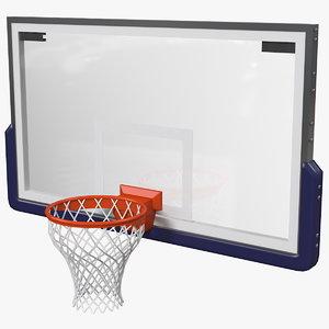 basketball hoop baskets throw ball 3D model
