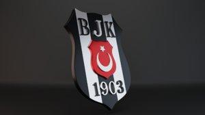 3D model bjk logo