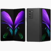 Samsung Galaxy Z Fold 2 Mystic Black Animated
