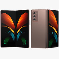 Samsung Galaxy Z Fold 2 Mystic Bronze Animated