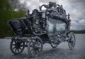 3D model dark carriage