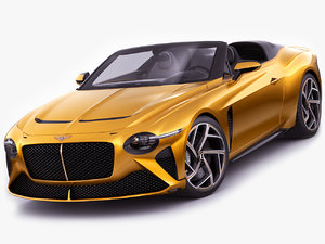 3D bentley mulliner bacalar