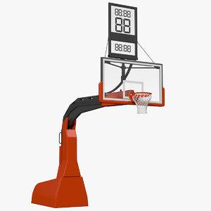 3D hydraulic portable basketball hoop