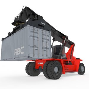 3D model container reach stacker
