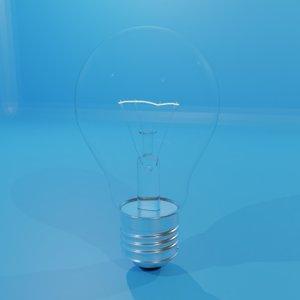 3D model lightbulb illumination