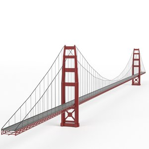 suspension bridge 3d max