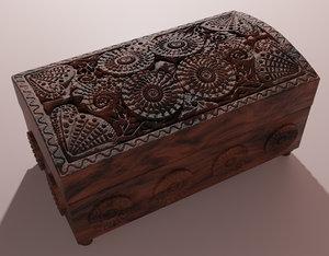 wooden casket 3D model