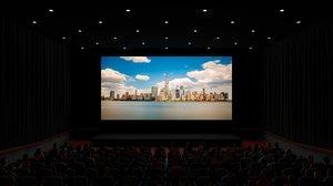 3D model movie theater auditorium interior