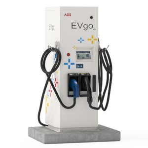 3D electric vehicle charging station model