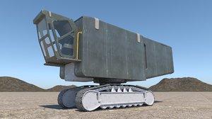 3D sci-fi transporter model