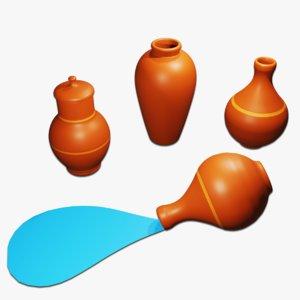 3D ancient pottery model