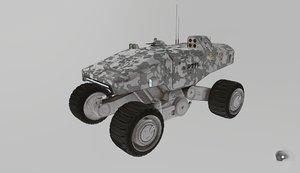 mars military transporter vehicle 3D model