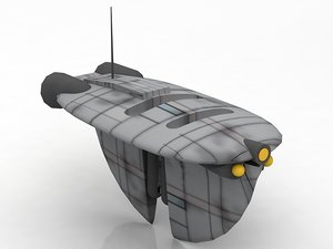 3D airtaxi med air taxi model