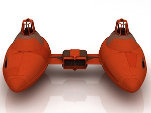 3D cloud car star wars
