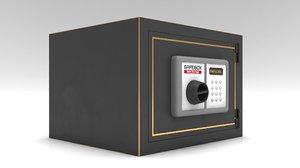 3D steel safe model