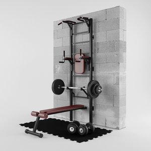 3D sport fitness trainer model