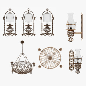 3D model lamp clasic