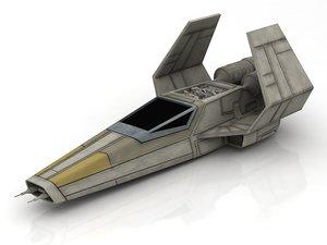 rebelion spacecraft spaceship t-65 3D
