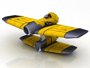 3D rebelion spacecraft spaceship t-65 model