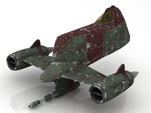3D mandalorian spacecraft fighters spaceship