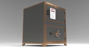 steel safe 3D model