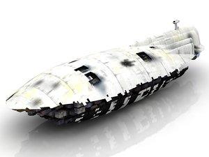 3D model gr-75 medium transport spacecraft
