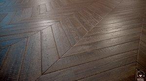 Old Parquet chevron - PBR textures