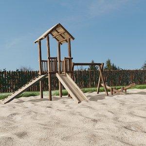 playground nature 3D model