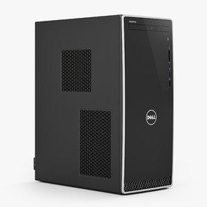 3D dell desktop computer inspiron